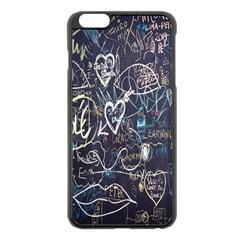 Graffiti Chalkboard Blackboard Love Apple Iphone 6 Plus/6s Plus Black Enamel Case