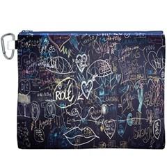 Graffiti Chalkboard Blackboard Love Canvas Cosmetic Bag (xxxl)