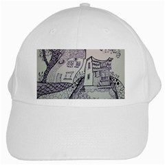 Doodle Drawing Texture Style White Cap