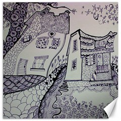 Doodle Drawing Texture Style Canvas 12  X 12