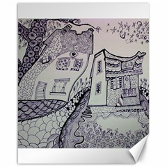 Doodle Drawing Texture Style Canvas 16  X 20