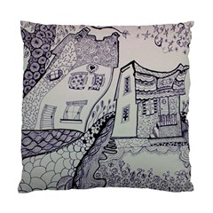 Doodle Drawing Texture Style Standard Cushion Case (two Sides)