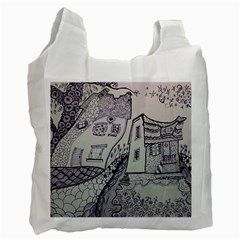 Doodle Drawing Texture Style Recycle Bag (one Side)