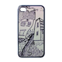 Doodle Drawing Texture Style Apple Iphone 4 Case (black)