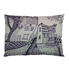 Doodle Drawing Texture Style Pillow Case (two Sides)