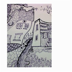 Doodle Drawing Texture Style Large Garden Flag (two Sides)
