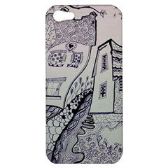Doodle Drawing Texture Style Apple Iphone 5 Hardshell Case