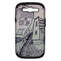 Doodle Drawing Texture Style Samsung Galaxy S Iii Hardshell Case (pc+silicone)