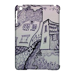 Doodle Drawing Texture Style Apple Ipad Mini Hardshell Case (compatible With Smart Cover)