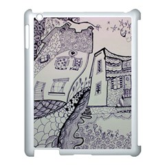 Doodle Drawing Texture Style Apple Ipad 3/4 Case (white)