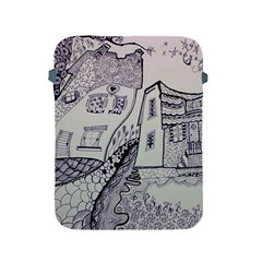 Doodle Drawing Texture Style Apple Ipad 2/3/4 Protective Soft Cases