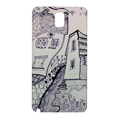 Doodle Drawing Texture Style Samsung Galaxy Note 3 N9005 Hardshell Back Case