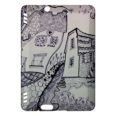 Doodle Drawing Texture Style Kindle Fire Hdx Hardshell Case