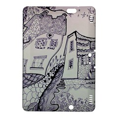 Doodle Drawing Texture Style Kindle Fire Hdx 8 9  Hardshell Case
