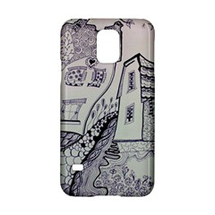 Doodle Drawing Texture Style Samsung Galaxy S5 Hardshell Case