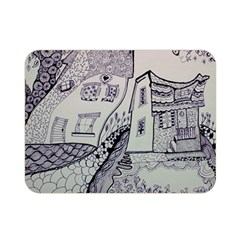 Doodle Drawing Texture Style Double Sided Flano Blanket (mini)