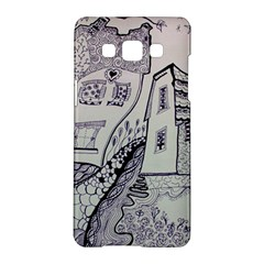 Doodle Drawing Texture Style Samsung Galaxy A5 Hardshell Case