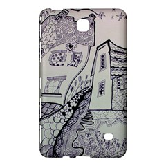Doodle Drawing Texture Style Samsung Galaxy Tab 4 (7 ) Hardshell Case