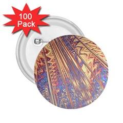 Flourish Artwork Fractal Expanding 2 25  Buttons (100 Pack)