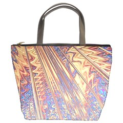 Flourish Artwork Fractal Expanding Bucket Bags