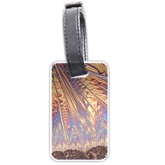 Flourish Artwork Fractal Expanding Luggage Tags (two Sides)