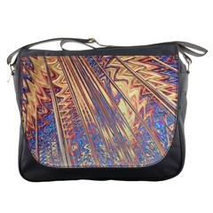Flourish Artwork Fractal Expanding Messenger Bags