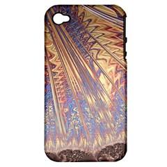 Flourish Artwork Fractal Expanding Apple Iphone 4/4s Hardshell Case (pc+silicone)