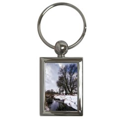 Winter Bach Wintry Snow Water Key Chains (rectangle)
