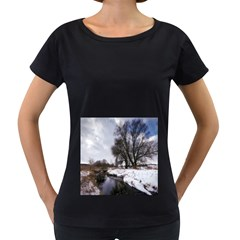 Winter Bach Wintry Snow Water Women s Loose Fit T Shirt (black)