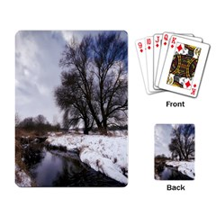 Winter Bach Wintry Snow Water Playing Card