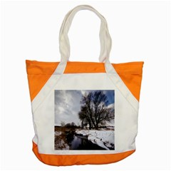 Winter Bach Wintry Snow Water Accent Tote Bag