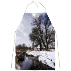 Winter Bach Wintry Snow Water Full Print Aprons