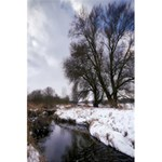 Winter Bach Wintry Snow Water 5.5  x 8.5  Notebooks Back Cover