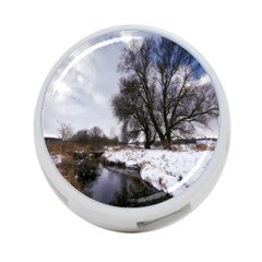 Winter Bach Wintry Snow Water 4 Port Usb Hub (two Sides)