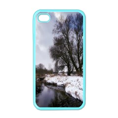 Winter Bach Wintry Snow Water Apple Iphone 4 Case (color)