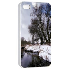 Winter Bach Wintry Snow Water Apple Iphone 4/4s Seamless Case (white)