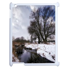 Winter Bach Wintry Snow Water Apple Ipad 2 Case (white)