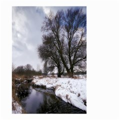Winter Bach Wintry Snow Water Small Garden Flag (two Sides)