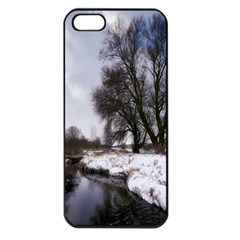 Winter Bach Wintry Snow Water Apple Iphone 5 Seamless Case (black)