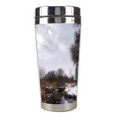 Winter Bach Wintry Snow Water Stainless Steel Travel Tumblers