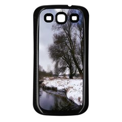 Winter Bach Wintry Snow Water Samsung Galaxy S3 Back Case (black)