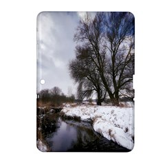 Winter Bach Wintry Snow Water Samsung Galaxy Tab 2 (10 1 ) P5100 Hardshell Case