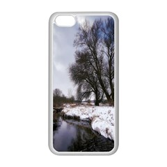 Winter Bach Wintry Snow Water Apple Iphone 5c Seamless Case (white)