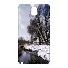 Winter Bach Wintry Snow Water Samsung Galaxy Note 3 N9005 Hardshell Back Case