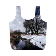 Winter Bach Wintry Snow Water Full Print Recycle Bags (m)