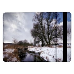 Winter Bach Wintry Snow Water Samsung Galaxy Tab Pro 12 2  Flip Case