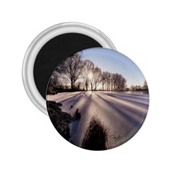 Winter Lake Cold Wintry Frozen 2 25  Magnets