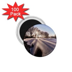 Winter Lake Cold Wintry Frozen 1 75  Magnets (100 Pack)