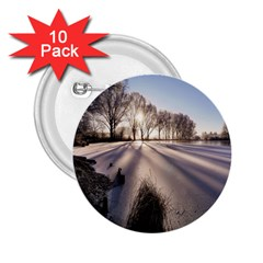 Winter Lake Cold Wintry Frozen 2 25  Buttons (10 Pack)