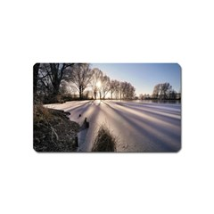 Winter Lake Cold Wintry Frozen Magnet (name Card)